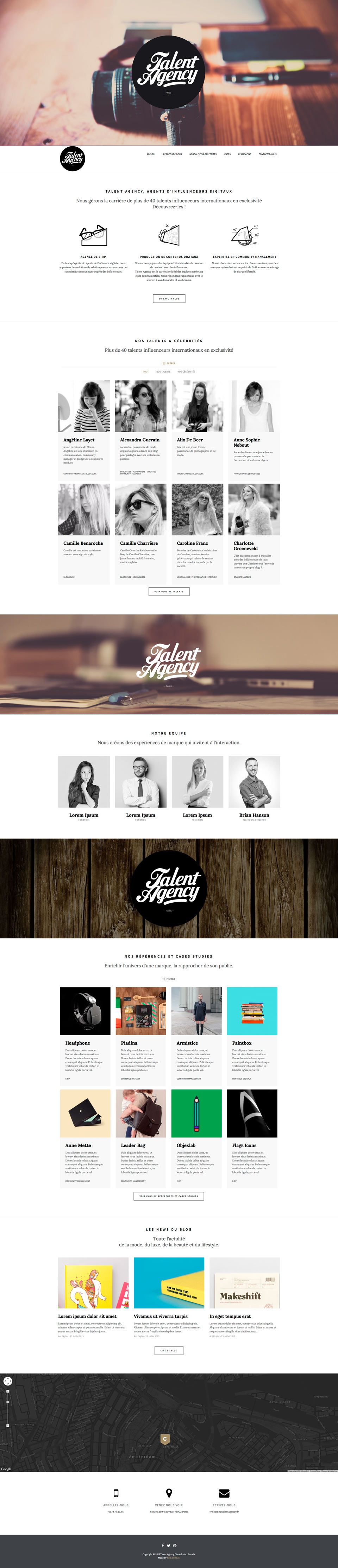 talent-agency-homepage