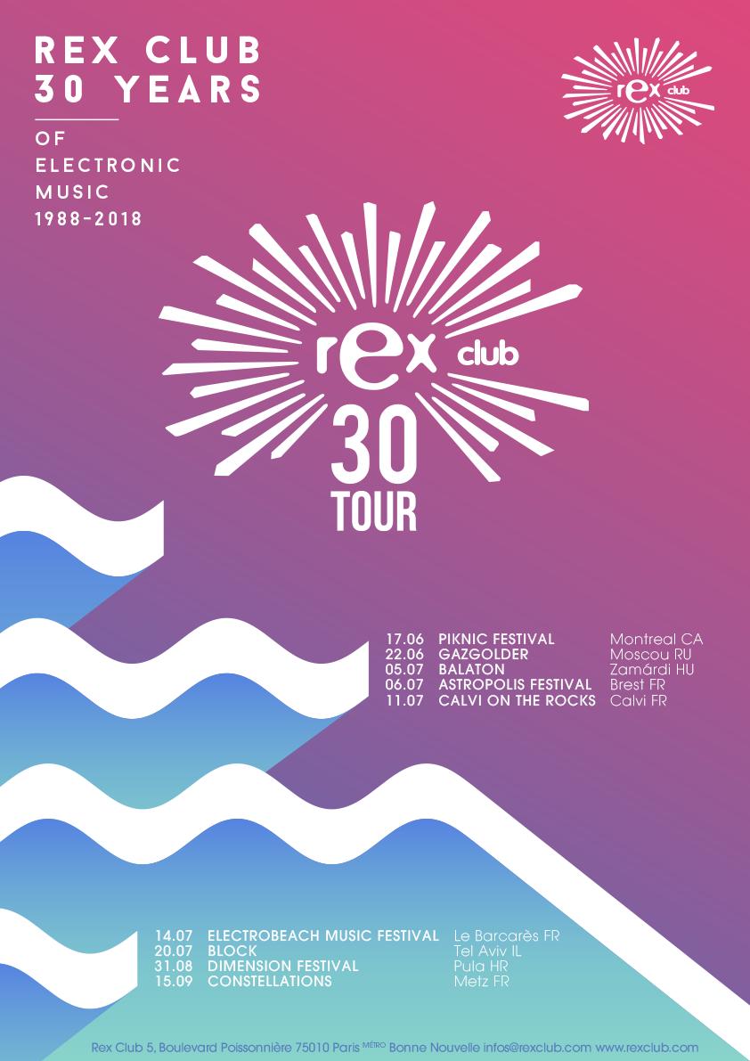 rexclub30_summer_tour_2018_poster_A3_promo